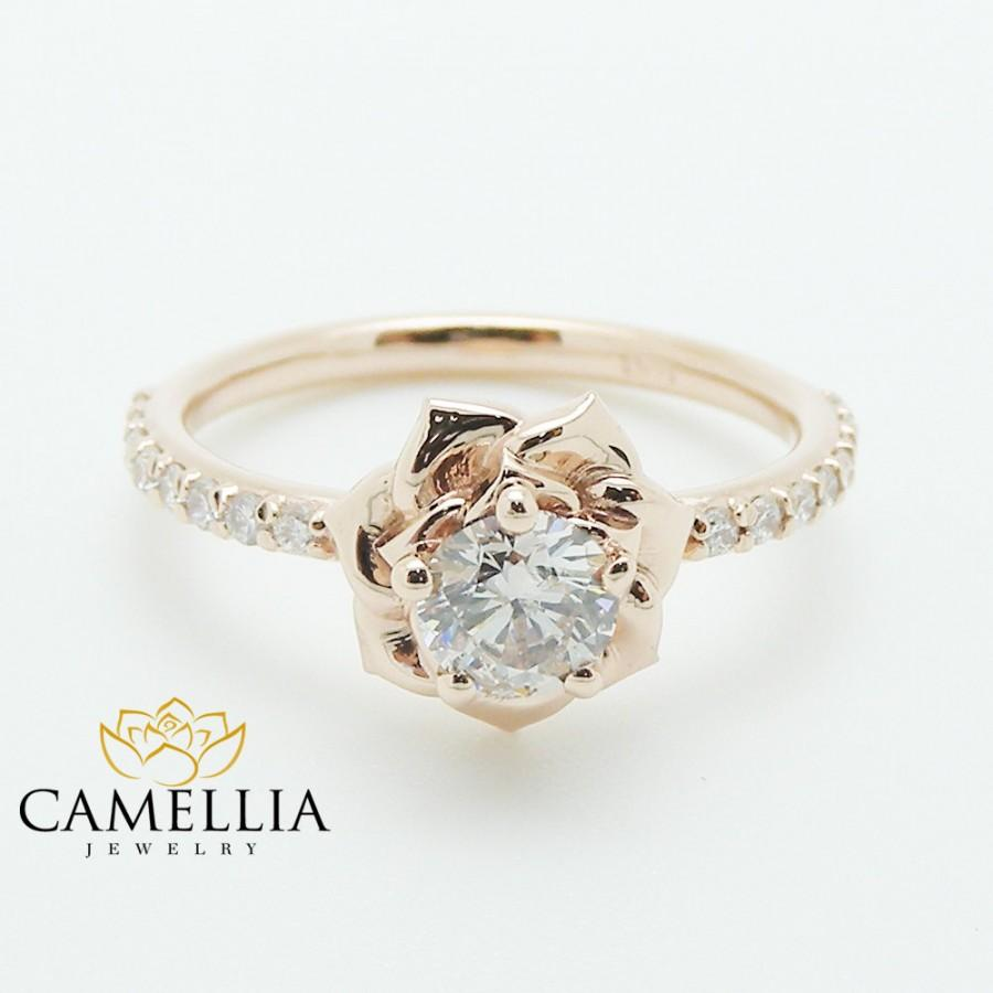 in camellia white vintage unique engagement design ring media carat rings style diamond gold leaf
