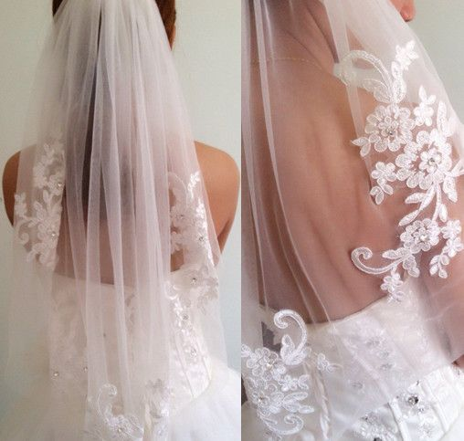 Mariage - Single Wedding Veil Waist-length With Comb