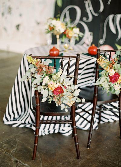 Mariage - Wedding Chair Floral Decoration
