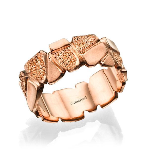 Mariage - Wedding Ring, 14K Gold Ring, Wedding band, Rose Gold Ring, Bridal Jewelry, mens wedding band, Unisex wedding Ring, Woman wedding ring, rings