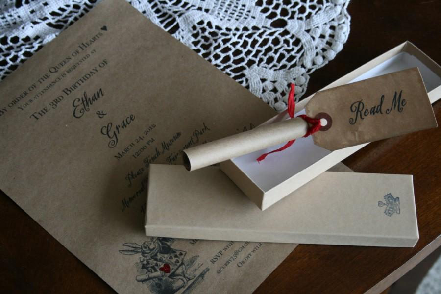 http://s3.weddbook.com/t4/2/5/2/2520988/alice-in-wonderland-invitation-wedding-scroll-wedding-invitation-vintage-unique-boxed.jpg