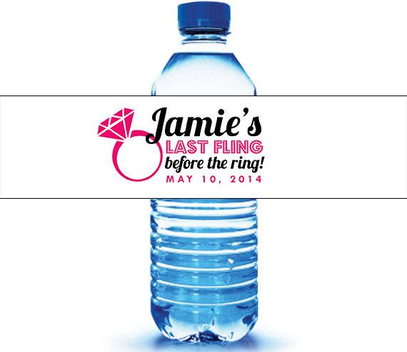 Свадьба - Bachelorette Water Bottle Label - Wedding Water Label - Bachelorette Party - (25 qty)