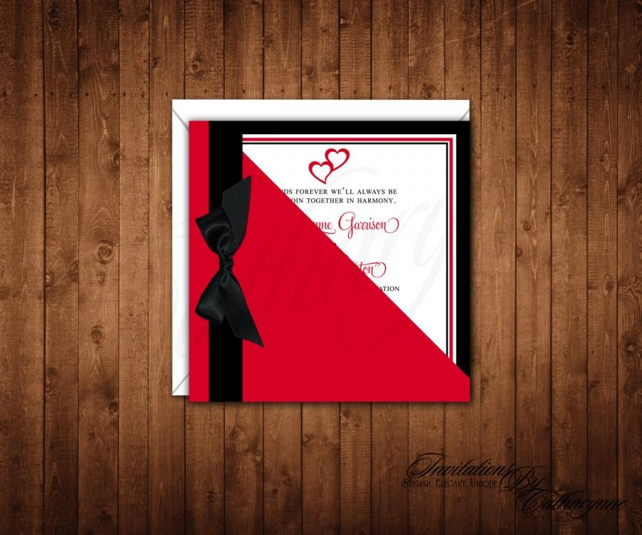 Valentine S Day Wedding Invitations Wedding Invitations Red And