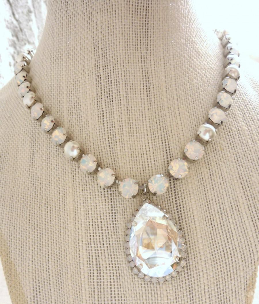 order necklace of rhinestone pearls r item online and ornamental pink stones tuberose opal shop