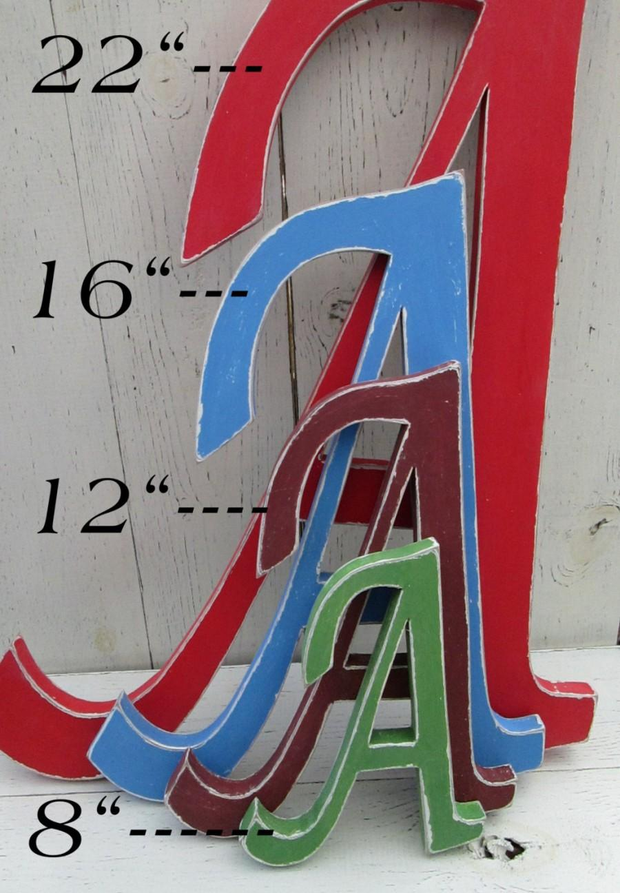 Decorative Wall Letters Distressed Wood Letters, Up To 22 Inches ...