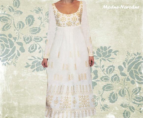 Wedding - Embroidered wedding dress Empire wedding dress Vintage wedding dress Romantic wedding dress Linen maxi dress Long bohemian wedding dress