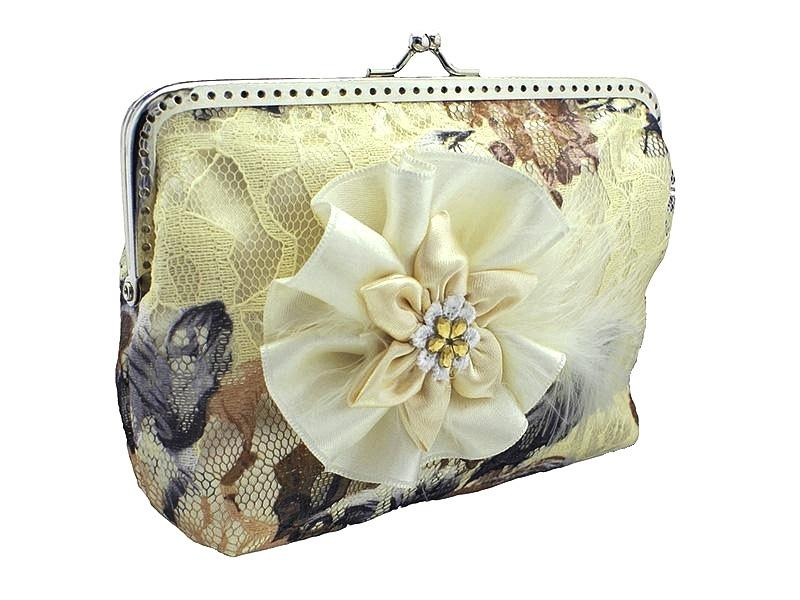 Bride Handbag Bridal Ivory Lace Clutch Bag Womens Purse Wedding Formal Vintage Or Shabby Chic Style Bridesmaid 0435