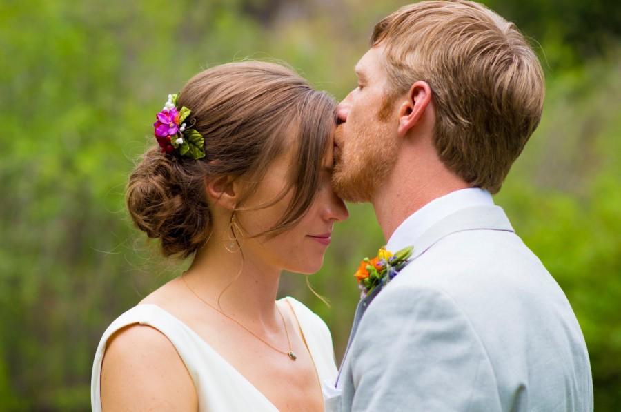 Mariage - rose hair comb, atumn bridal hair clip, fall wedding clip
