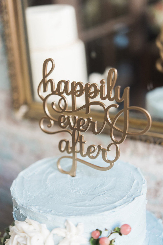 Laser Cut Wood Cake Topper