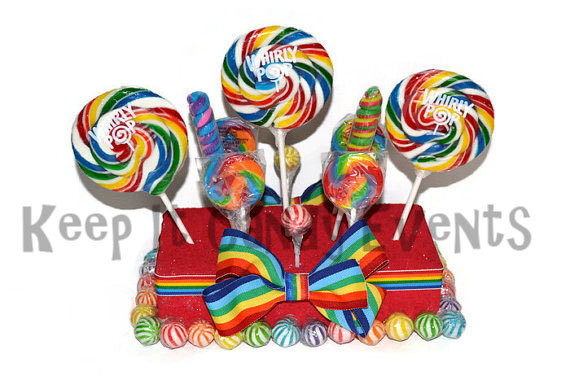 زفاف - Rainbow Lollipop Centerpiece, Candy Centerpiece, Rainbow Centerpiece, Birthday, Candy, Buffet, Wedding, Circus, Carnival, Rainbow Party
