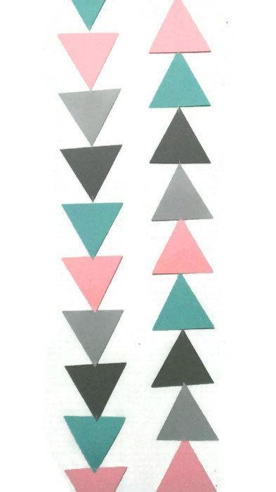 Mariage - Triangle Garland, Tribal, Birthday Garland, Baby Shower, Teepee Decoration