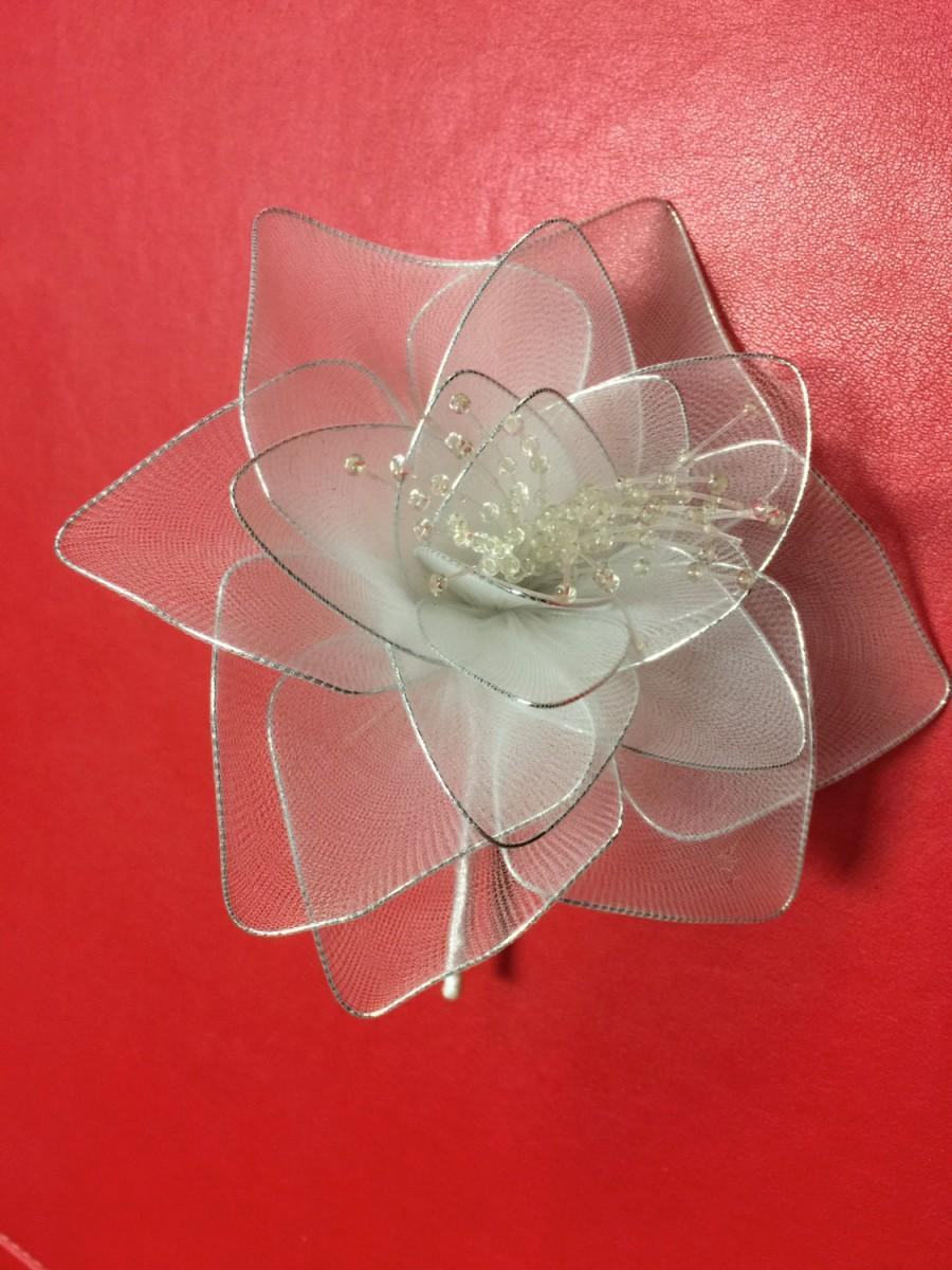 Wedding - Vintage Flower, Wedding Headband,Bridal Hair Garland,Bridal Headpiece. Made in Korea.Flexible for bending and twisting for your DIY project