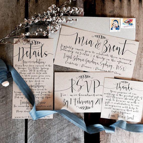 زفاف - Rustic Wedding Invitations, Wedding Invitation Suite, Wedding Invitations, Wedding Invitation