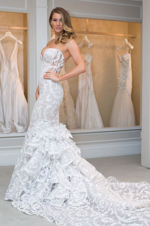 New pnina tornai wedding dresses see a real bride model 6 hot off new pnina tornai wedding dresses see a real bride model 6 hot off the runway gowns junglespirit Choice Image