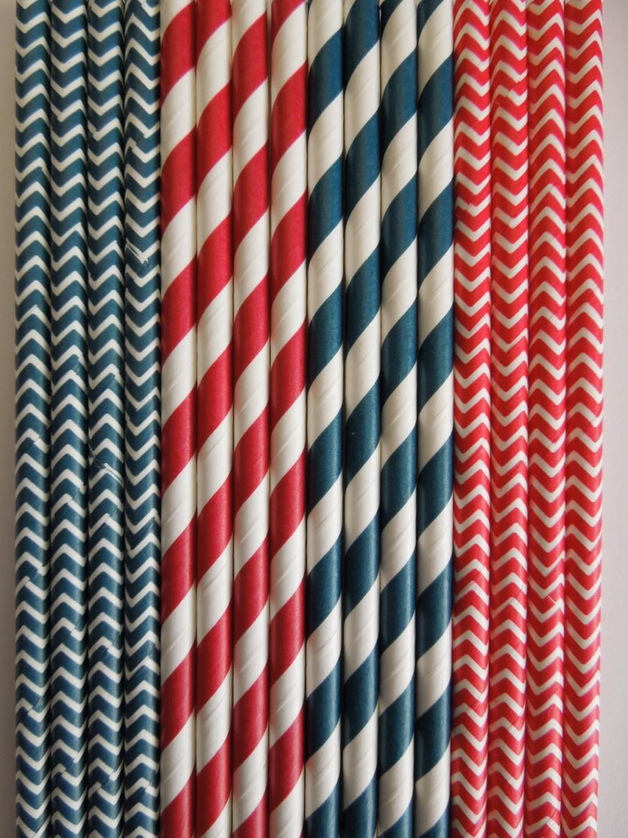 50 red navy paper straws nautical anchor birthday party cupcake