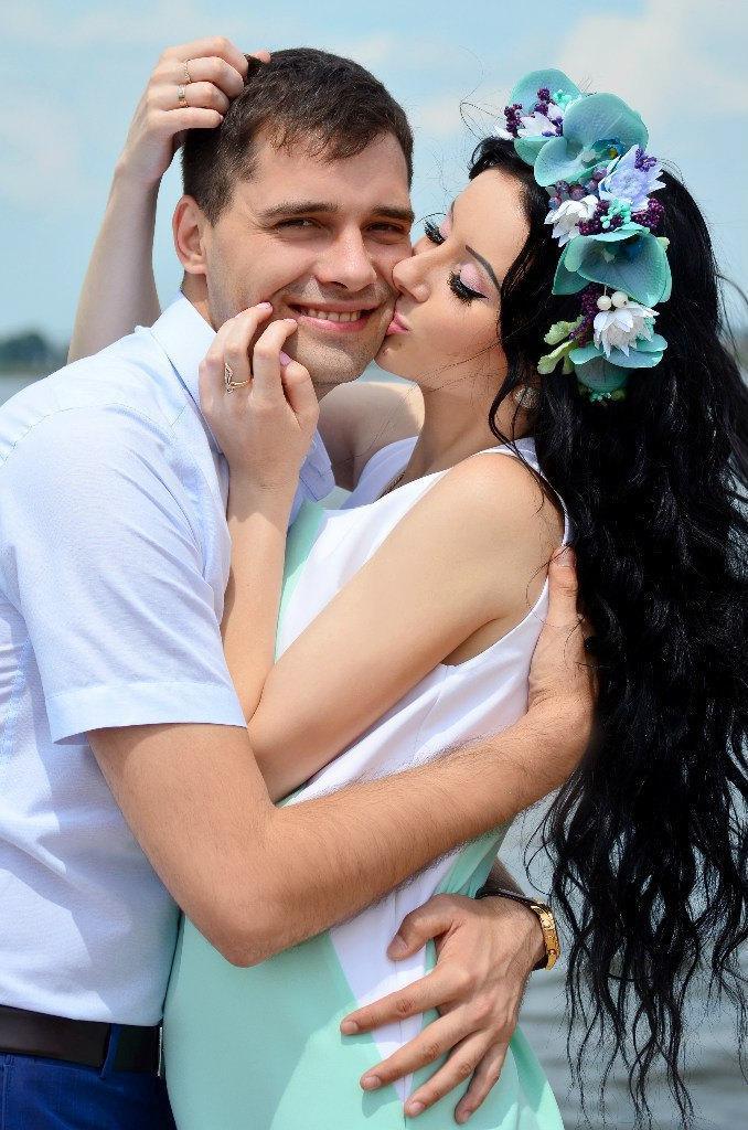 Mariage - Wedding flower crown Mint orchids berries halo Mint purple white flower wreath Bridal  flower wedding accessory