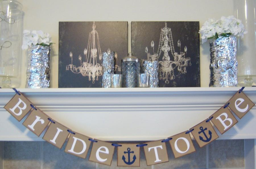 bridal shower banner nautical anchor bride to be banner wedding bannergarlandsbridal shower decorations wedding banners