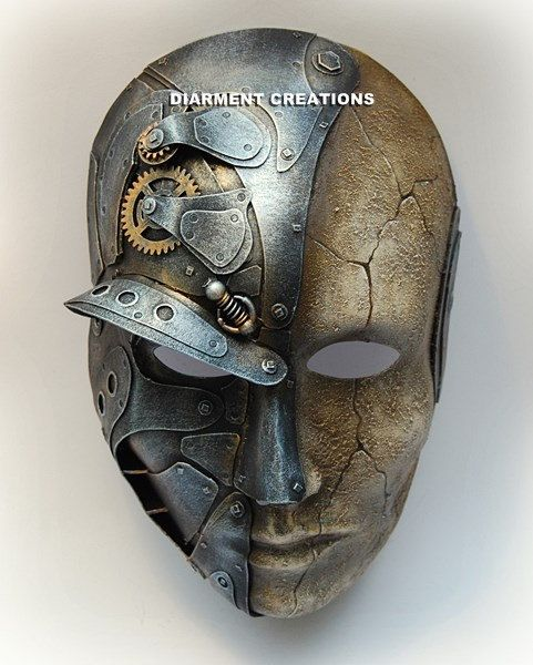 Mariage - Steampunk Metal And Sand Mask
