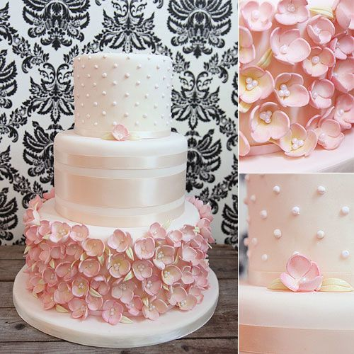 Wedding Cakes Melissa L Abbe Cakes Pink Wedding Cake Covered