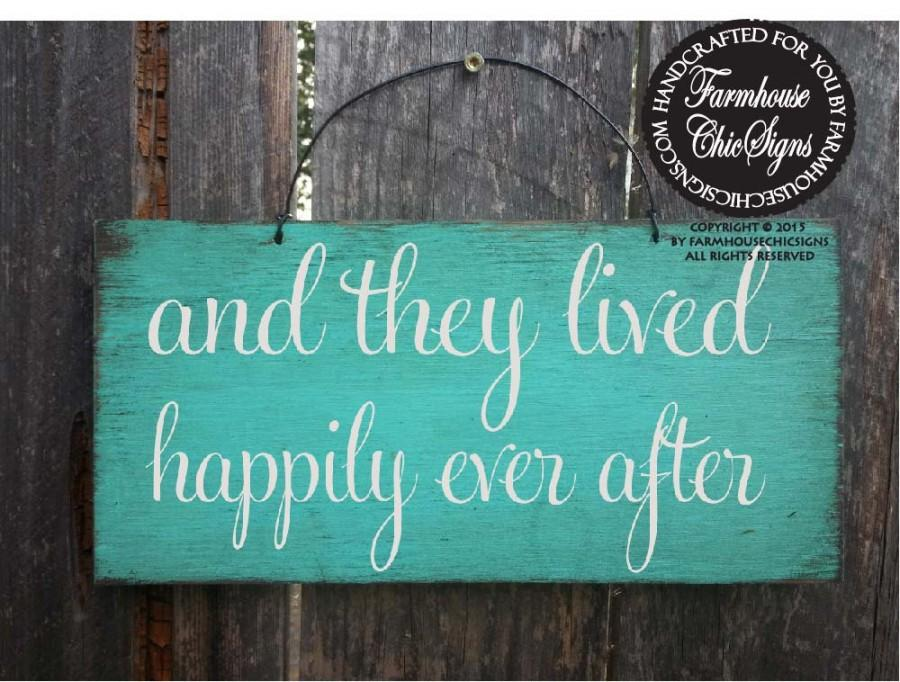 Mariage - happily ever after sign, wedding sign, rustic wedding, wedding decor, flower girl sign, wedding decoration, rustic decoration