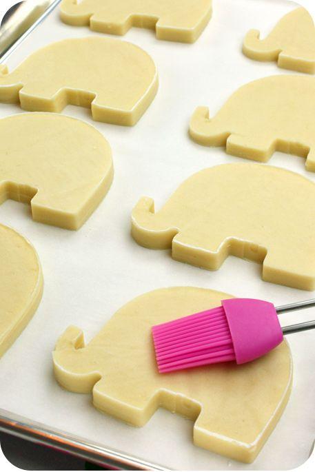 Свадьба - Decorated Elephant Cookies