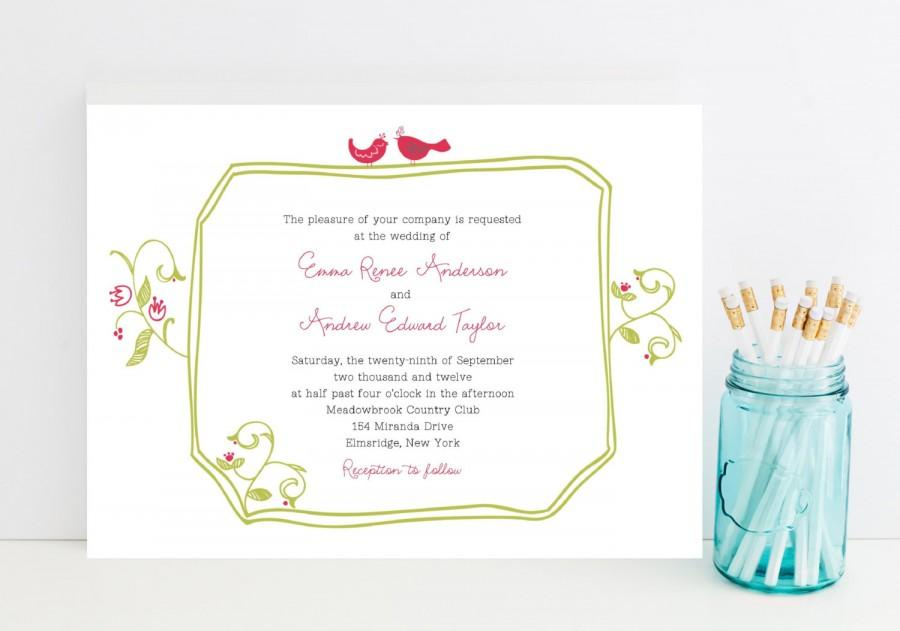 Fast Wedding Invitations Quick Wedding Invitation Garden