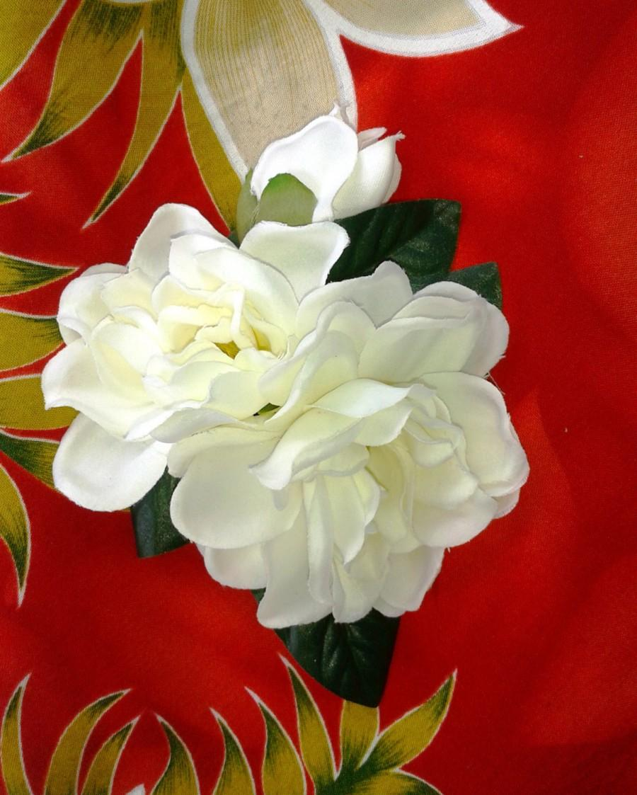 Tropical Hair Clip Gardenias Wedding Flowers Bridal Accessory