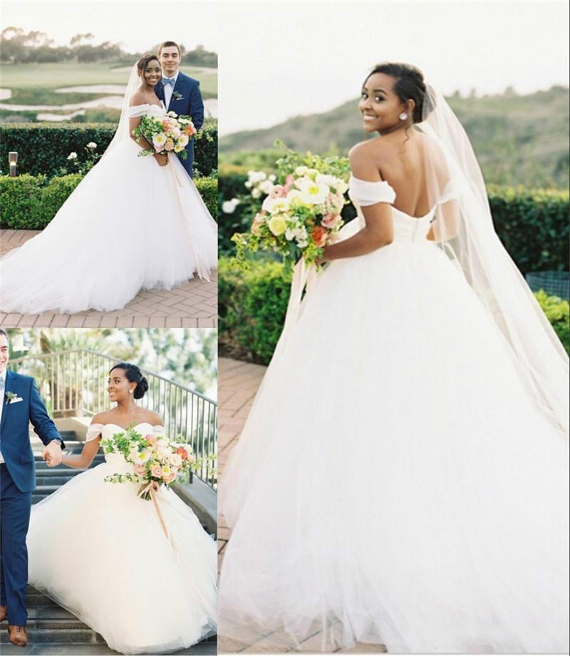 Gorgeous arabic plus size country wedding dresses simple for Plus size african wedding dresses