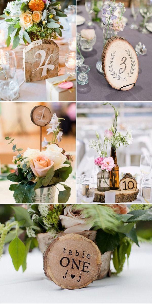 Hochzeit - Cool Rustic Wooden Table Numbers For Weddings