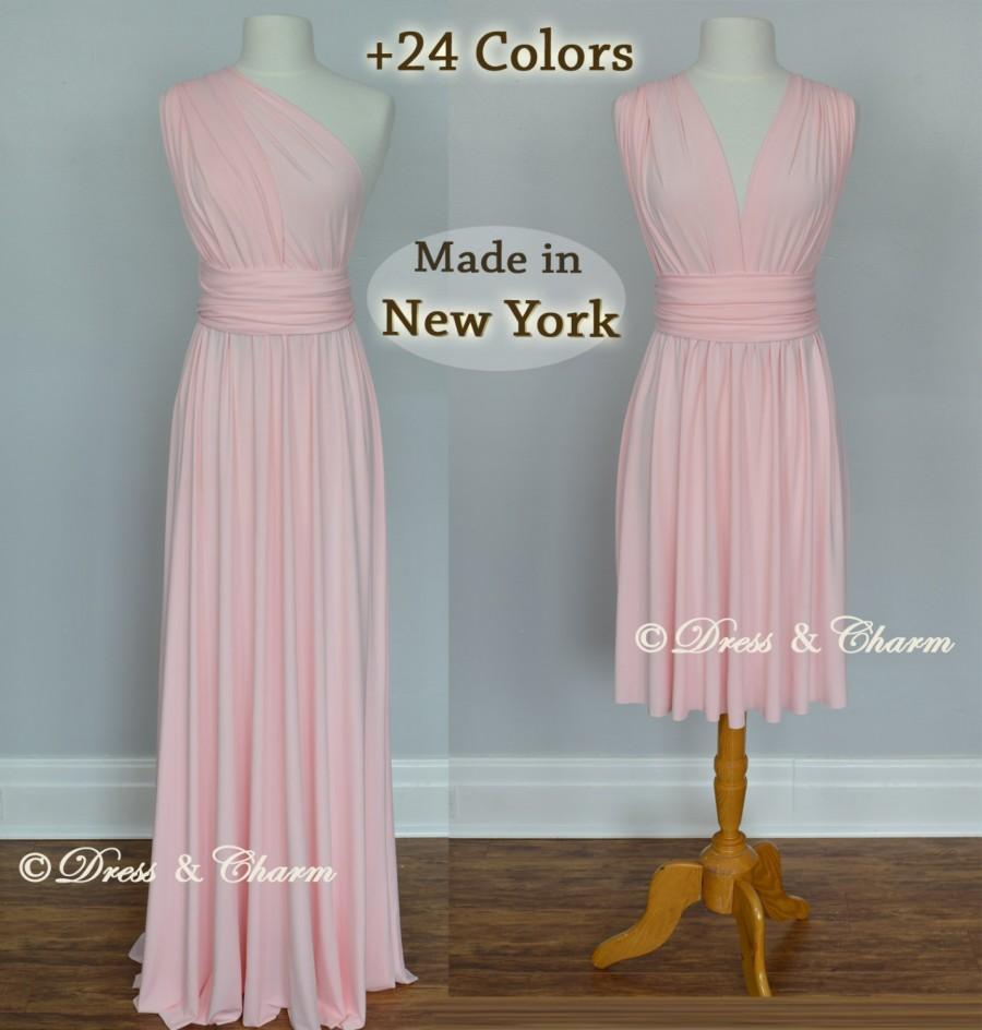 Soft Pink Bridesmaid Dress, Infinity Dress, Convertible Dress ...
