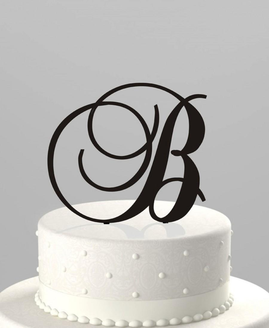 Wedding Cake Topper Couples Initial Or Birthday Initial, Acrylic ...