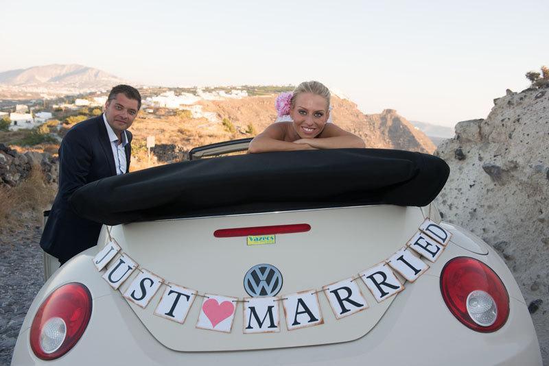 Wedding - JUST MARRIED Banner - Custom Wedding Decorations - Car Sign