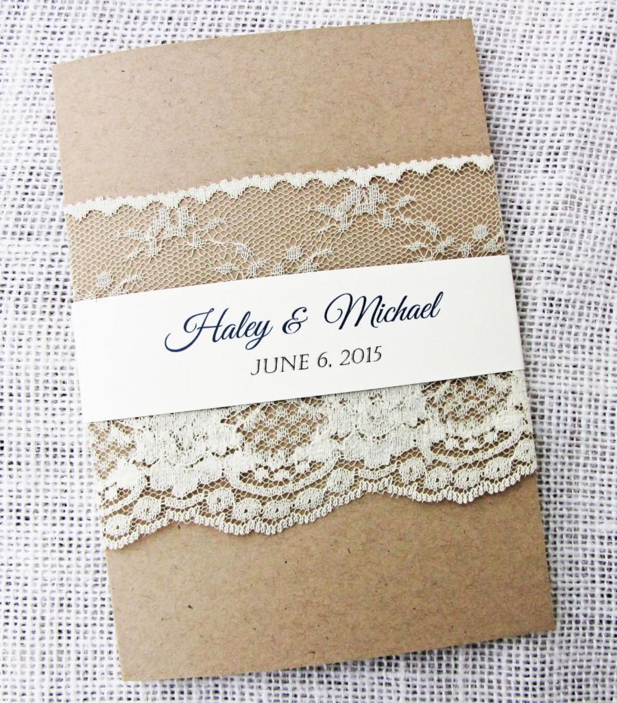 Rustic Wedding Invitation Lace Wedding Invitation Rustic Lace – Modern Rustic Wedding Invitations