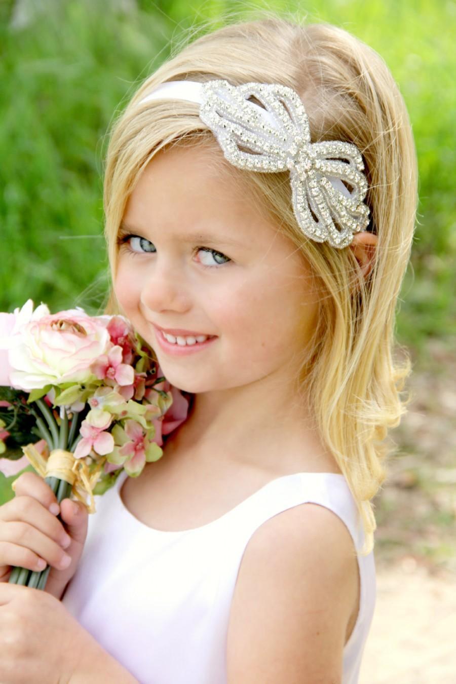 Mariage - Crystal Headband, Prom Headband, Rhinestone Headband, Gatsby Headband, Forehead Headband, Flower Girl Headband, Bridal Headband