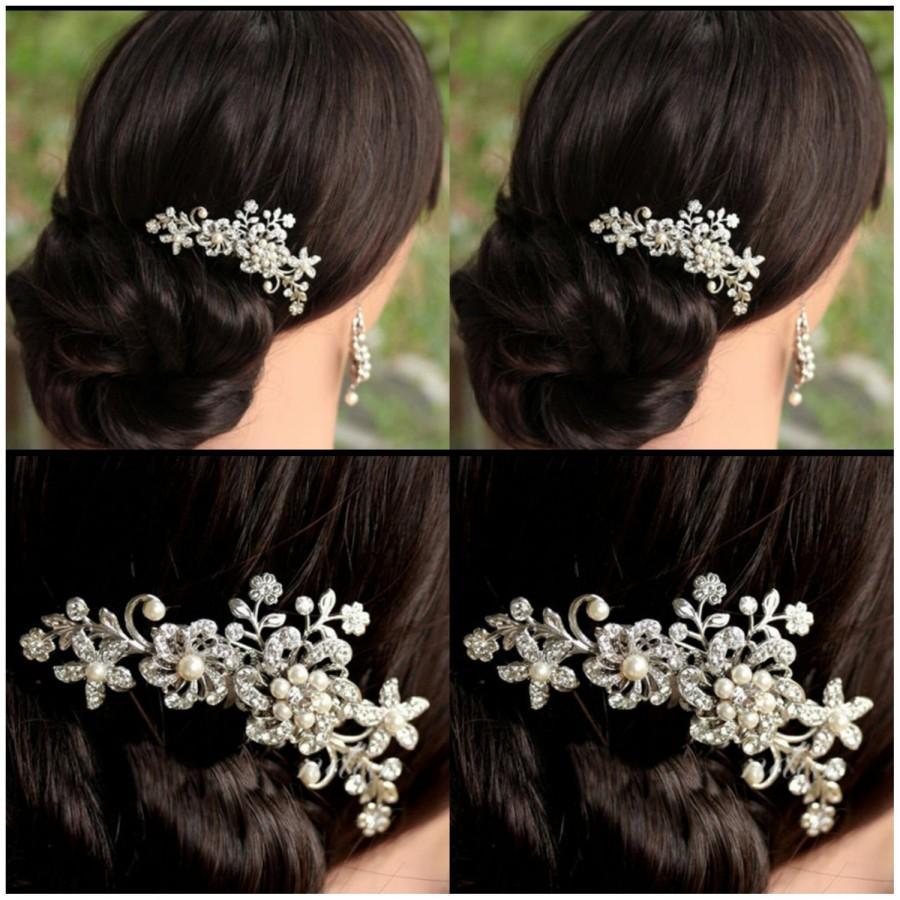 Mariage - Ivory Bridal hair comb Bridal hair clip Bridal hair pins Hairwear Hair accessories Wedding hair pin Bridal hairware Wedding hair cilp