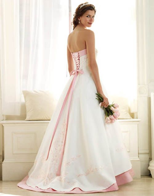 Wedding Dresses with Pink