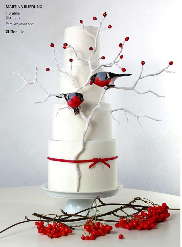 Wedding - 16 Fabulous Winter Wedding Cakes