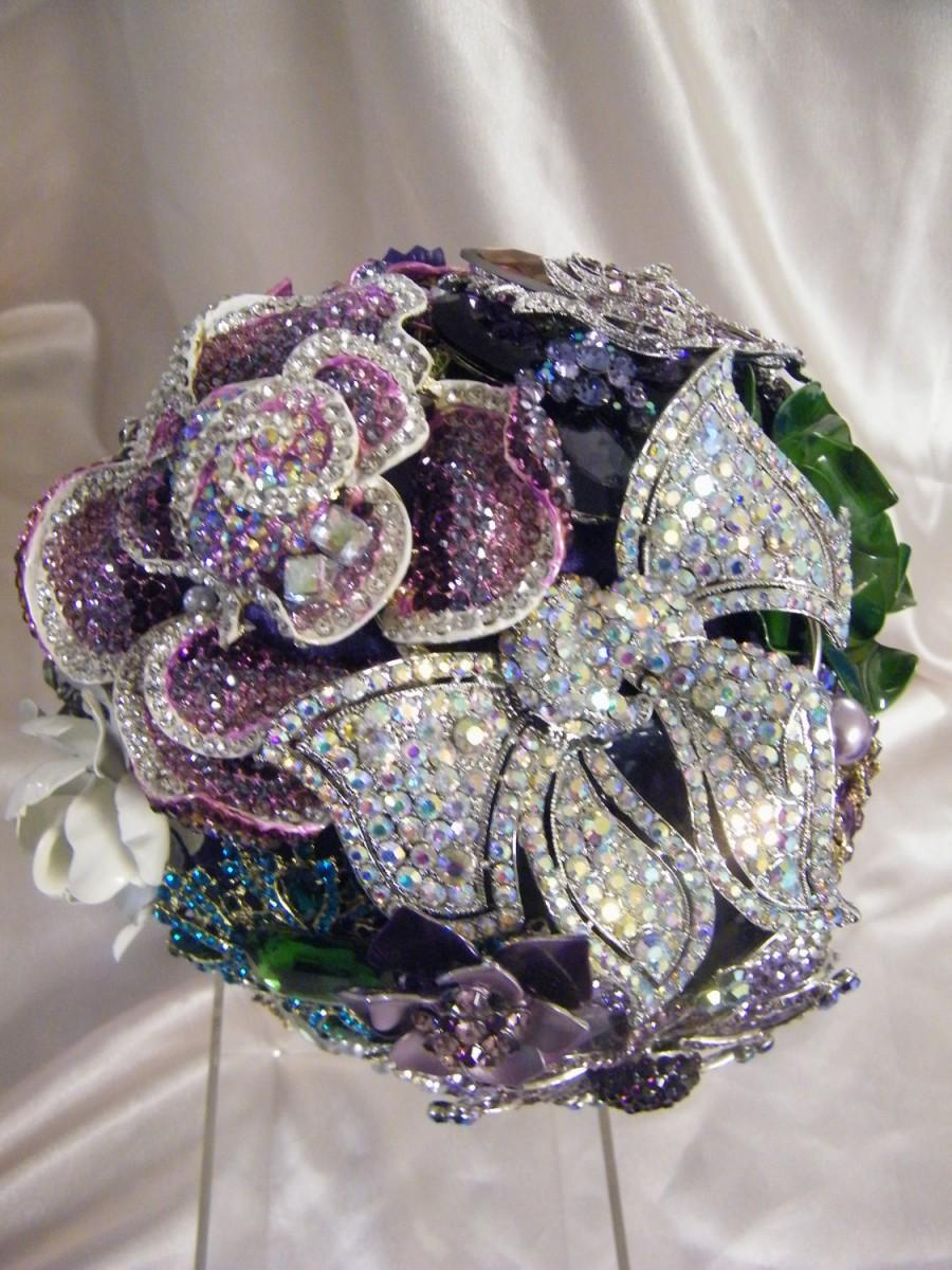 Mariage - The Rebekah Custom made crystal brooch bouquet made to your specifications