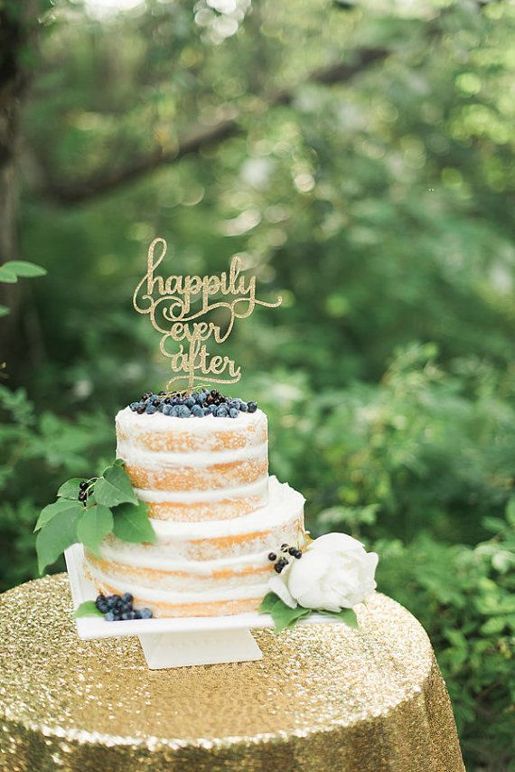 Свадьба - Cake Topper Wedding, Happily Ever After Cake Topper, Personalized Custom Cake Topper, Bridal Shower, Engagement, Anniversary Cake Topper