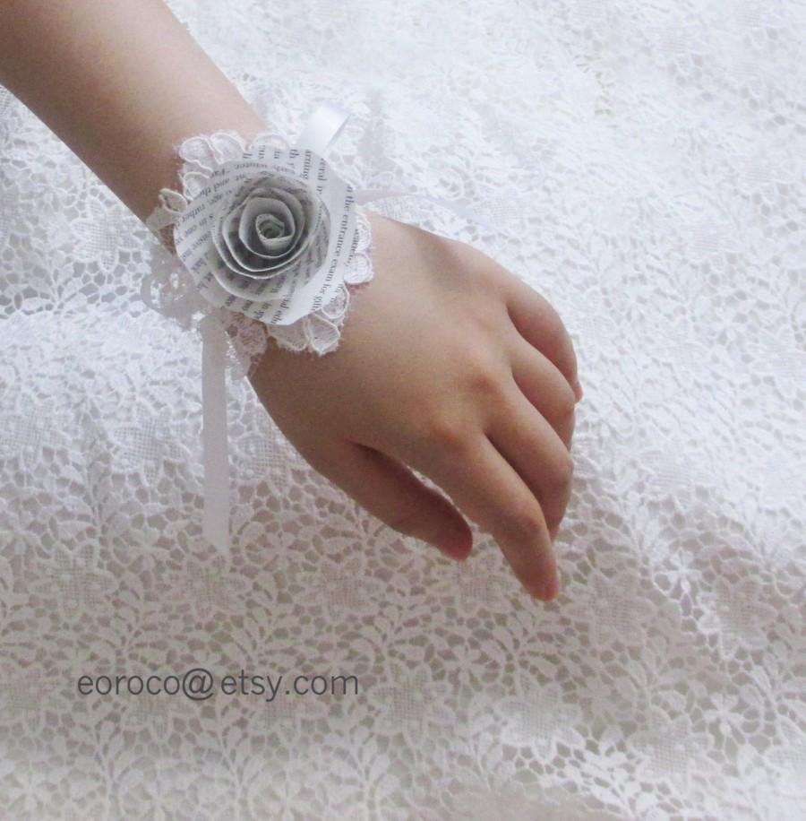 Paper Corsage Book Paper Flower Corsage Paper Flowers Wedding