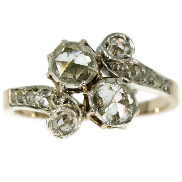 Wedding - Romantic Victorian toi et moi engagement ring