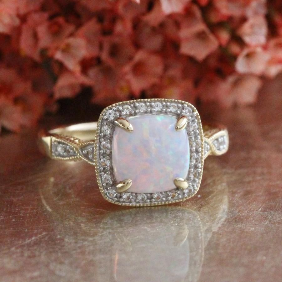 birthstone diamond s ring upon once rings october with opal gold products wedding halo a white ethiopian marquise