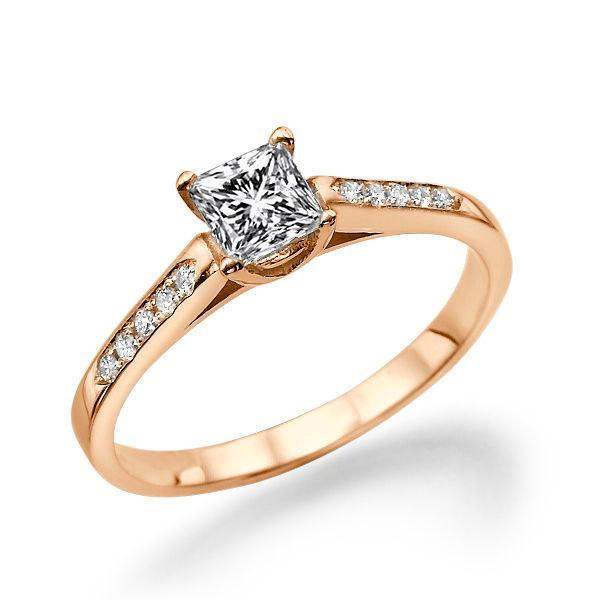 Rose Gold Engagement Ring Diamond Ring Setting 14K Rose Gold Ring 0 5 TCW
