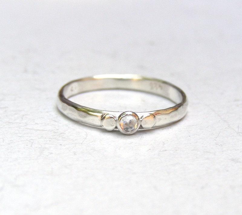 engagement ring similar diamond white topaz silver ring