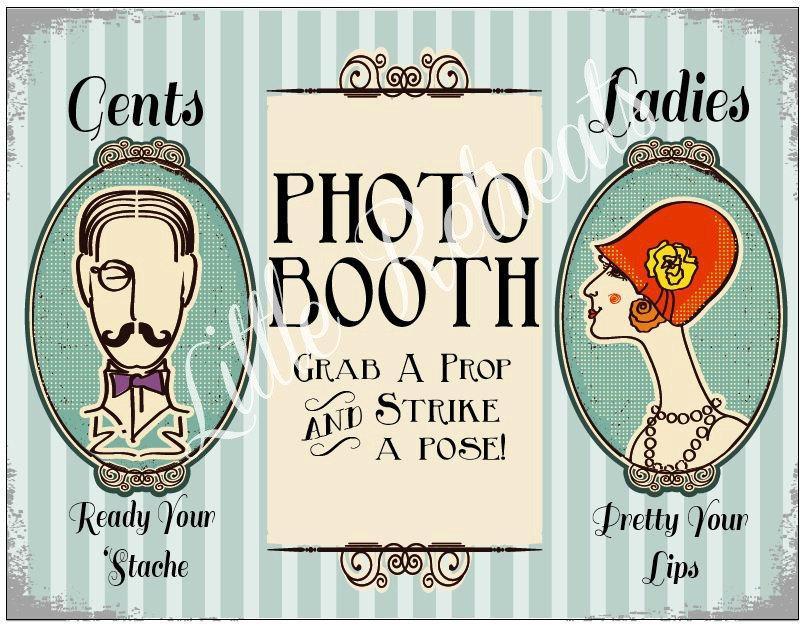 Hochzeit - INSTANT Download. DIY PDF. Photo Booth Sign. Photo Booth Prop. Photobooth Prop. Photo Booth.Vintage Retr0