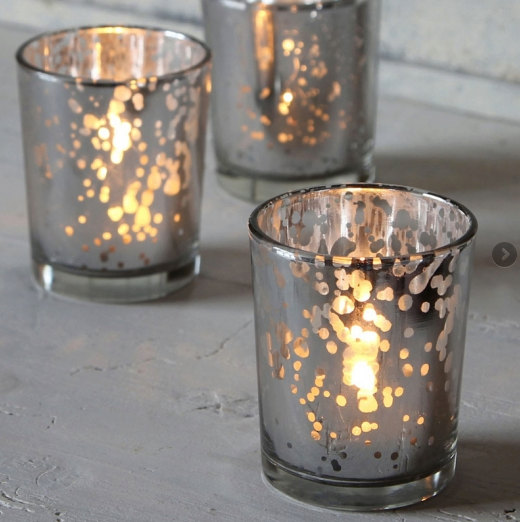 Wedding - Mercury Votive Tealight Holder Set of 10