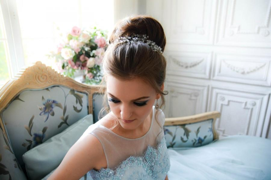 Hochzeit - Bridal headpiece - Crystal Bridal headpiece - Bridal hair comb - Wedding headpiece - Jeweled headpiece