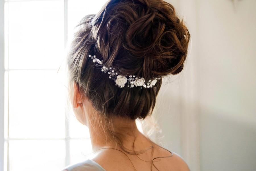 Свадьба - Bridal headpiece - Crystal and Pearl Bridal headpiece - Bridal hair comb - Wedding headpiece - Jeweled headpiece