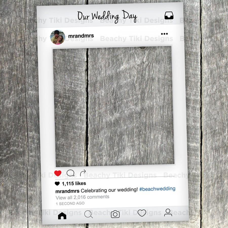 Instagram New Look Frame Cut Out With Prop Printable Diy For Wedding Birthday Events Photo Booth Props Custom Digital File
