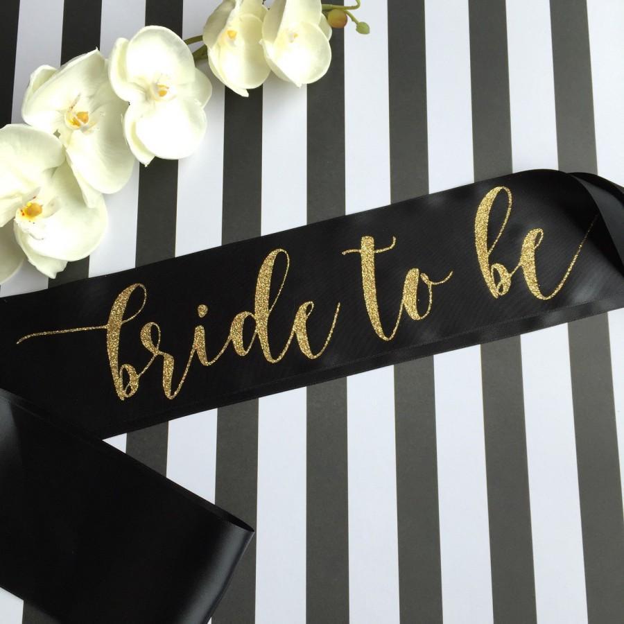 Wedding - Bride to Be Sash, Bachelorette Sash, Bridal Party Sash, Bachelorette Party, Party Sash, The Bride, The Bachelorette, Bridesmaid Sash, Bride